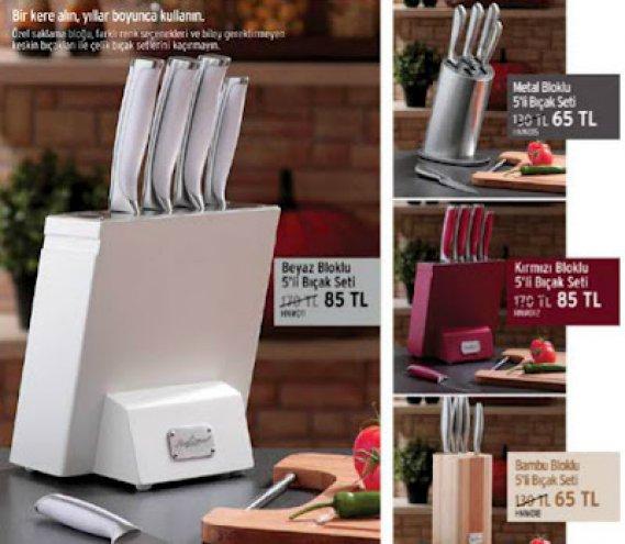 Biev Bıçak Setleri Mutfak Tezgahlarında