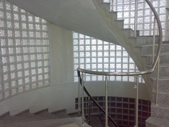 Bina-içi-cam-tuğla-uygulaması Cam Tuğla Modelleri
