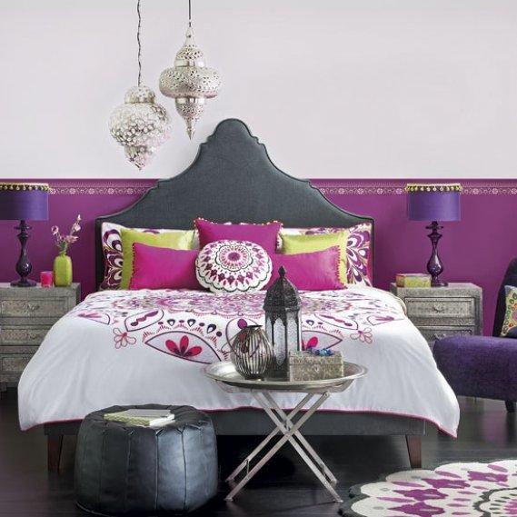 Bohem Tarzı Yatak Odası Örneği