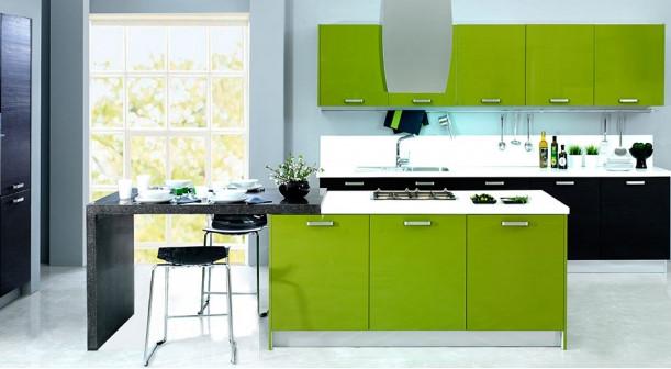 Daira-Melinga-Meşe-Lisa-Yeşil Kelebek Mutfak Modelleri 2018
