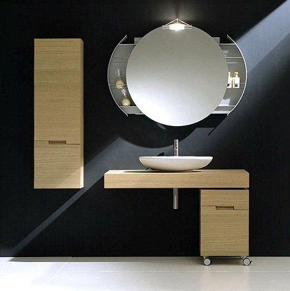 Dekoratif-Modern-Banyo-Aynası-Tasarımı Modern Banyo Aynası Tasarımları