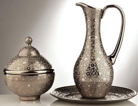 Dekoratif-Salon-Aksesuarı-Modelleri-Gümüş-salon-aksesuar-takımı Dekoratif Salon Aksesuarı Modelleri