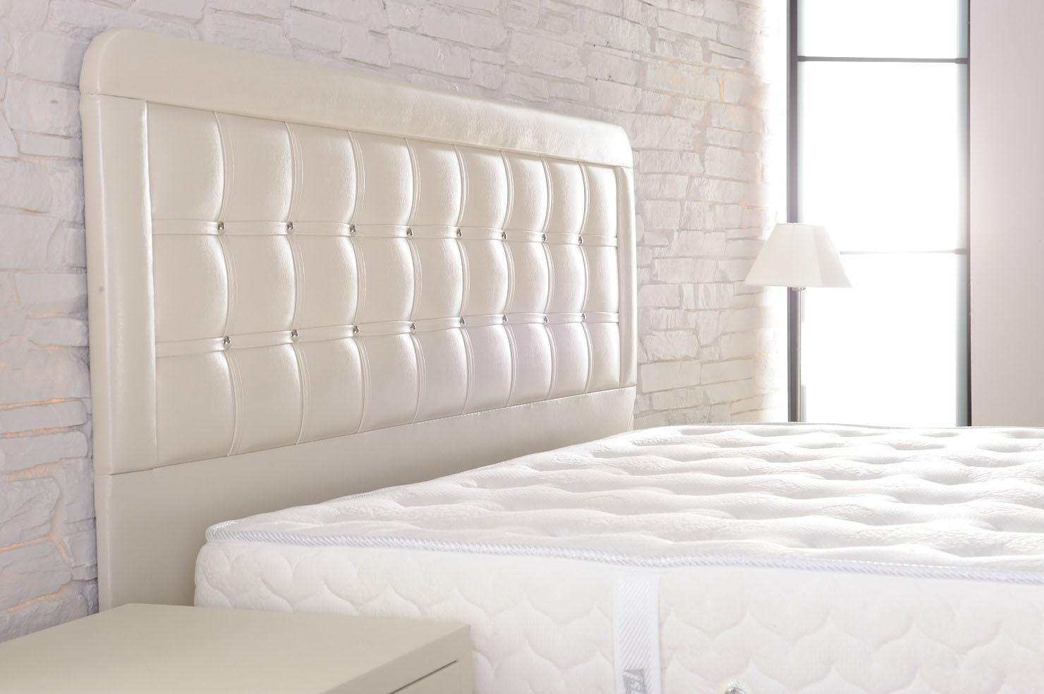 Deri-Krem-Yatak-Başlığı Deri Yatak Başlık Modelleri