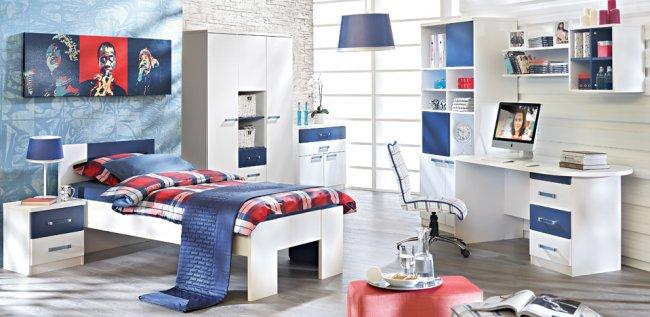 Doğtaş-Spirit-Mavi-Genç-Oda-Mobilyası Doğtaş Genç Odası Modelleri
