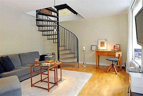 Dublex-Ev-İçi-Metal-Döner-Merdiven-Çeşitleri Dublex Ev Merdiven Modelleri