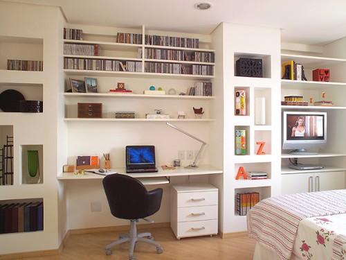 Duvar-Home-Ofis-Mobilya-Modeli Home Ofis Mobilya Modelleri Örnekleri