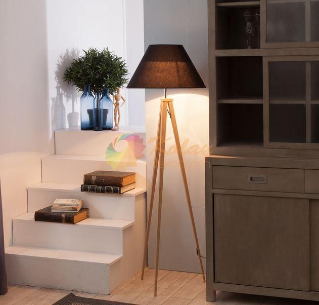 En Guzel Lambader Modelleri – 10 – Ahsap ayaklı lambader