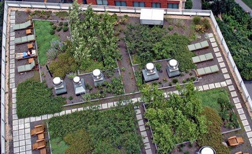 Estetik-Çatı-Bahçeleri-Örnekleri Çatı Bahçesi Modelleri