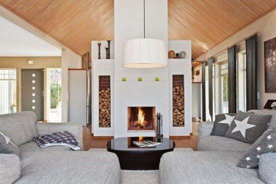 Estetik Şömineler İçin Odun Depolama