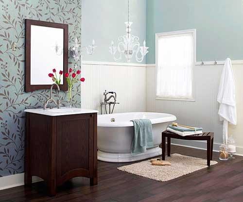 Estetik-Banyo-Duvar-Kağıtları Banyo Duvar Kağıdı Modelleri