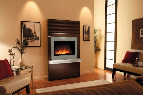 Estetik-Elektrikli-Şömine-Tasarımı Dekoratif Elektrikli Şömine Modelleri