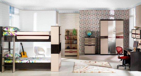 Estetik-ranzalı-çocuk-odası-modeli Ranzalı Çocuk ve Genç Odası Takımları