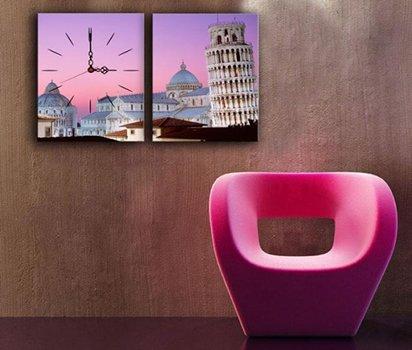 Eyfel-Kulesi-Temalı-Canvas-Duvar-Saati Canvas Duvar Saati Modelleri