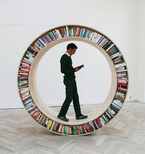 Farklı-Fikre-Sahip-Kitaplık-Tasarımı Farklı ve İlginç Kitaplık Tasarımları