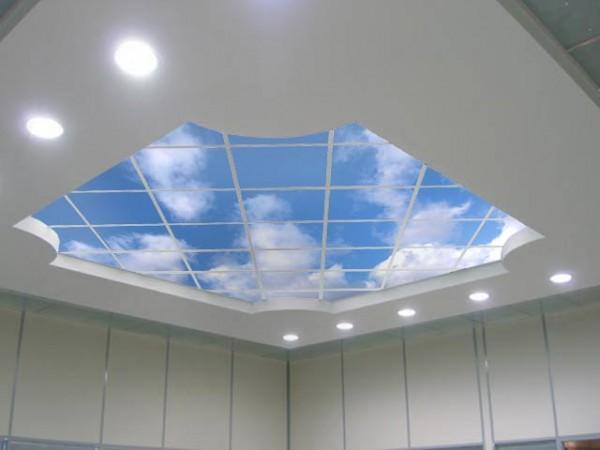 Gökyüzü-Genç-Odası-Asma-Tavan-Model-Tasarımı Genç Odası Asma Tavan Modelleri