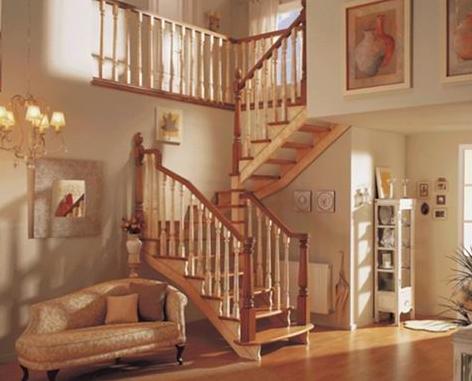 Güzel-Ahşap-Dublex-Merdiveni En Güzel Modelli Merdivenler