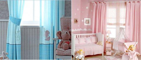 Güzel Bebek Odası Perde Çeşitleri