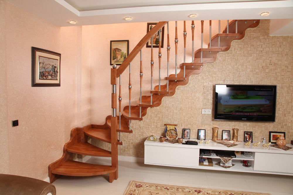 Güzel-Dubleks-Ev-Mediveni En Güzel Modelli Merdivenler