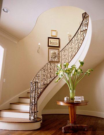 Güzel-Ferforje-Oval-Merdiven En Güzel Modelli Merdivenler
