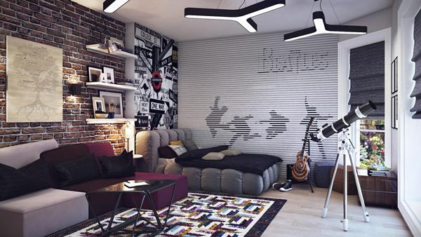 Genç-Odası-Duvar-Kağıdı-Modelleri-2 Genç Odası Duvar Kağıdı Modelleri
