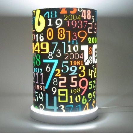 Harf-Ve-Rakamlı-Pop-Art-Lambader Pop Art Lamba Modelleri