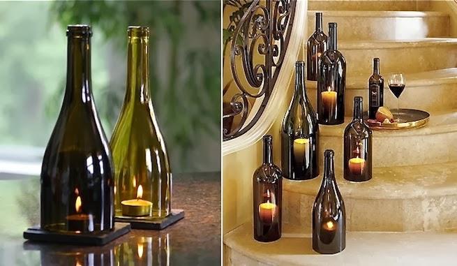 Ideas-para-decorar-con-botellas-de-vino Dekoratif cam şişe nasıl yapılır?