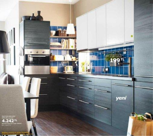 Ikea-Ankastreli-Mutfak-Dolabı Ikea Mutfak Dolapları