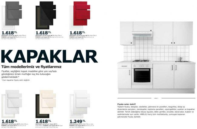 Ikea-Mutfak-Dolap-Kapakları Ikea Mutfak Dolapları