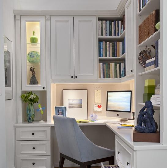 Küçük-Çalışma-Köşesi-Mobilya-Tasarımı Evlerde Çalışma Köşesi Mobilyaları