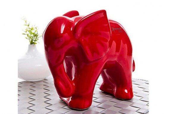 Kırmızı-Dekoratif-Fil-Aksesuar-Tasarımı Dekoratif Fil Aksesuarlar Şık Fil Biblolar