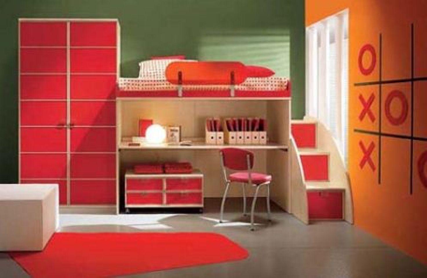 Kırmızı-Tek-Kişilik-Çocuk-Ranzası Tek Kişilik Ranza Modelleri Çok Fonksiyonel