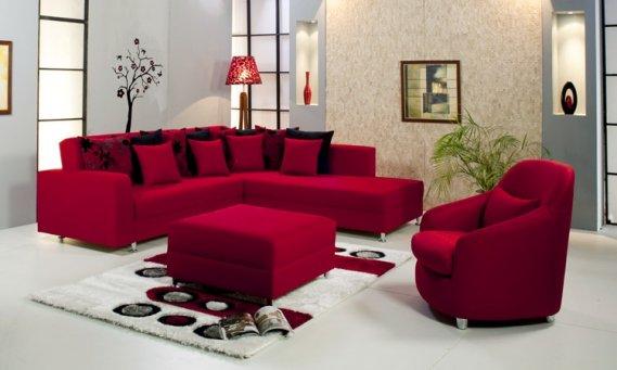 Kırmızı-siyah-Köşe-Koltuk-Takımları Kırmızı Köşe Takımları
