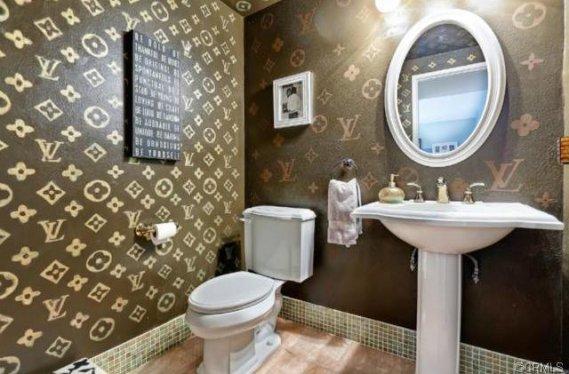Kahverengi-Banyo-Duvar-Kağıtları Banyo Duvar Kağıdı Modelleri
