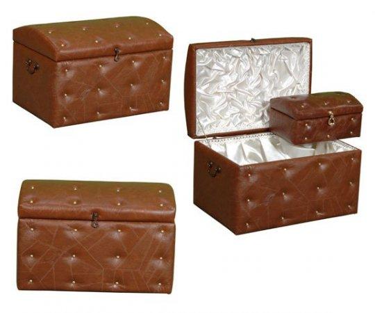 Kahverengi-Deri-Çeyiz-Sandığı-Modelleri Çeyiz Sandığı Tasarımları Modelleri