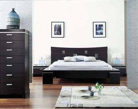 Kahverengi-Japon-Tarzı-Yatak-Odası-Modeli Japon Tarzı Yatak Odaları