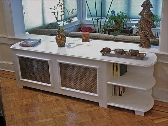 Kalorifer-Peteği-Kitaplık-Şeklinde-Kaplama-Tasarımı Ev Kalorifer Petek Kaplamaları