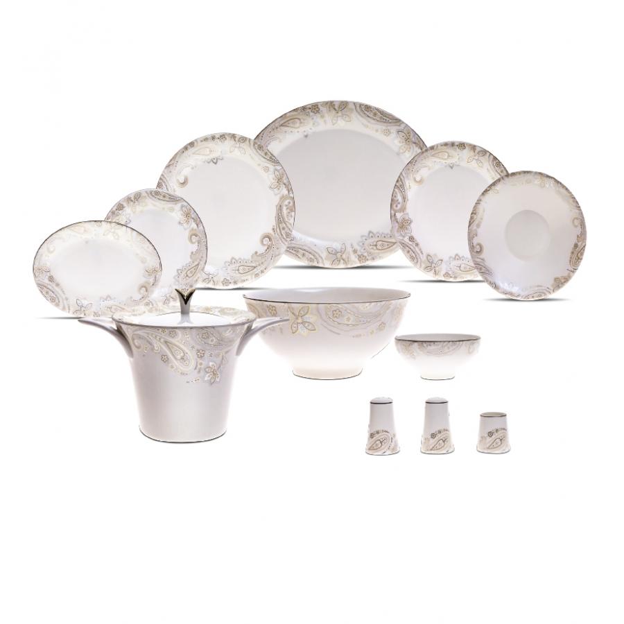 Karaca-Porselen-Yemek-Takımı-Modelleri-paisley-fine-bone-84-parca- Karaca Porselen Yemek Takımı Modelleri