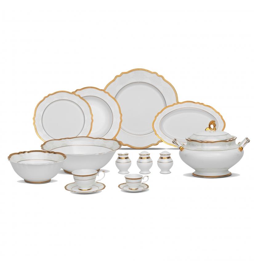 Karaca-Porselen-Yemek-Takımı-Modelleri-queen-elisa Karaca Porselen Yemek Takımı Modelleri