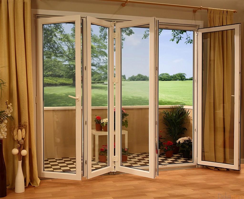 Katlanır-Beyaz-Pvc-Kapı-Modeli Katlanır Kapı Modelleri