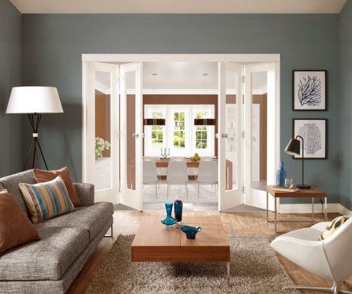 Katlanabilir-Beyaz-Salon-Kapısı Katlanır Kapı Modelleri