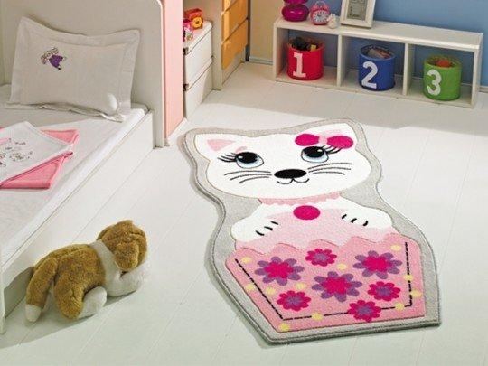 Kedi-Modelli-Çocuk-Odası-Halısı Çocuk Odası Halı Modelleri