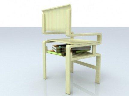 Kitap-Koyma-Yerli-Sandalye-Modeli Kitaplık Sandalye Modelleri