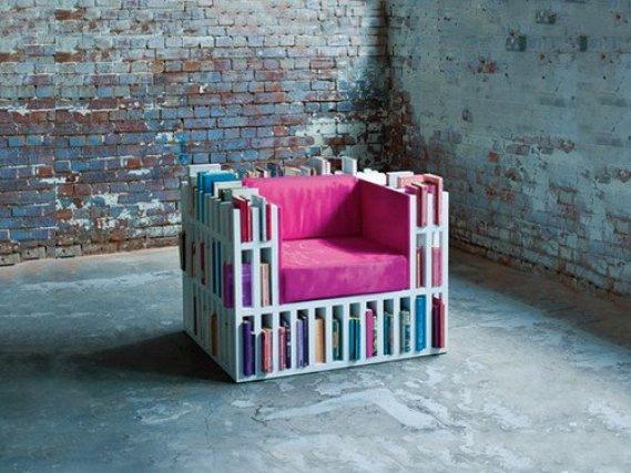 Kitaplık-Sandalye-Modeli Kitaplık Sandalye Modelleri