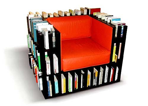 Kitaplıklı-Sandalye-Tasarımı Kitaplık Sandalye Modelleri