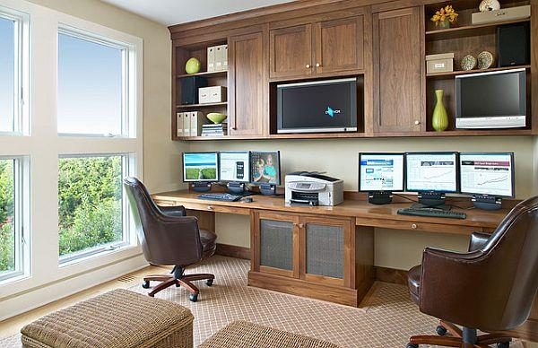Klasik-Home-Ofis-Mobilya-Tasarımı Home Ofis Mobilya Modelleri Örnekleri