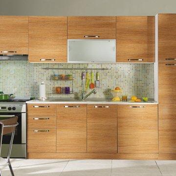 Koçtaş-Fantasia-Fix-Biella-Parlak-Afrika-Teak-Mutfak-Dolabı-Modeli-2.55-m Koçtaş Mutfak Dolabı Modelleri