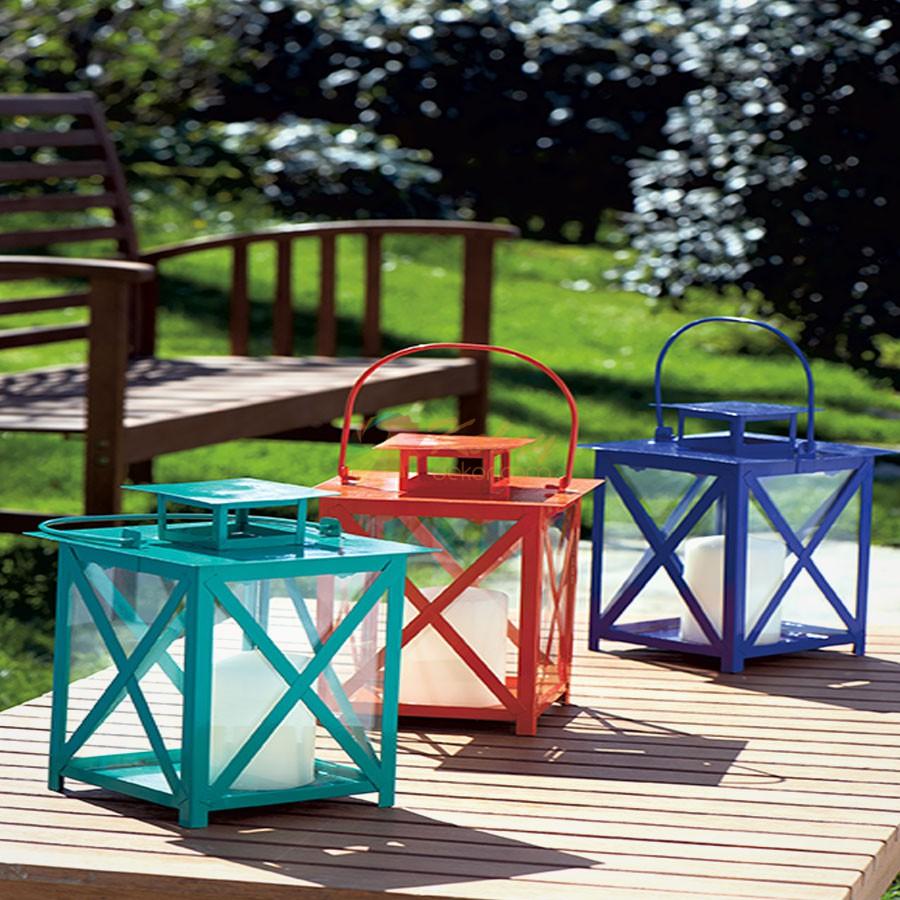 Koctas-Bahce-Aydinlatma-Modelleri-10-Renkli-Metal-Fener Koçtaş Bahçe Aydınlatma Modelleri