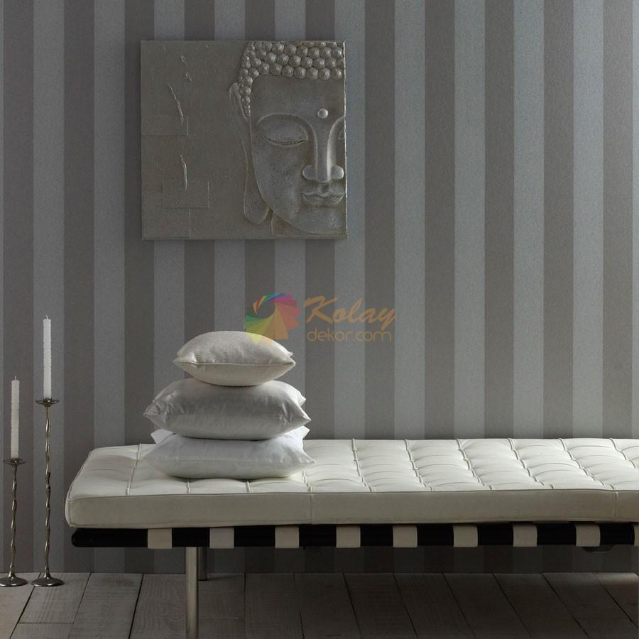 Koctas-Duvar-Kagidi-Modelleri-Arthouse-Cizgili-Gumus Koçtaş Duvar Kağıdı Modelleri