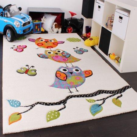 Kuşlu-Çocuk-Odası-Halı-Modeli Çocuk Odası Halı Modelleri