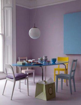 Lila-Rengi-Duvar-Boyası-Dekorasyonu-3 Lila Rengi Duvar Boyası